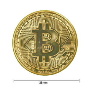 1pc 38mm Collection Coin Bitcoin Gold Plated Bronze Physical Bitcoins Casascius Bit Coin BTC New Year