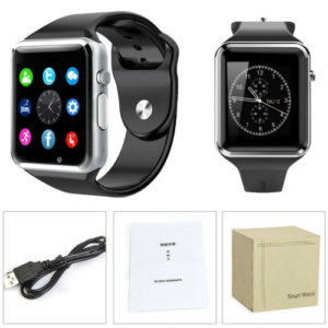 A1 Bluetooth Smart Watch Phone, Camera, Single SIM Black Grey and Gold color