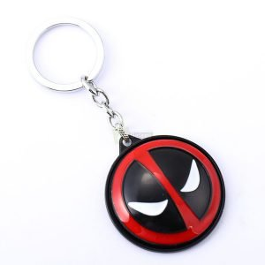 Deadpool keychain Marvel Keychain keyring black and red