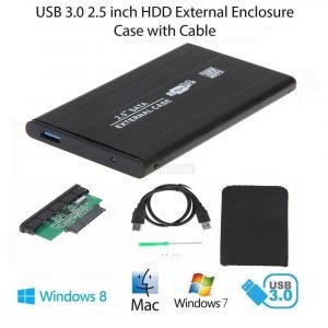 USB 3.0 SATA 2.5 Inch External Hard Drive Enclosure for HDD SSD main