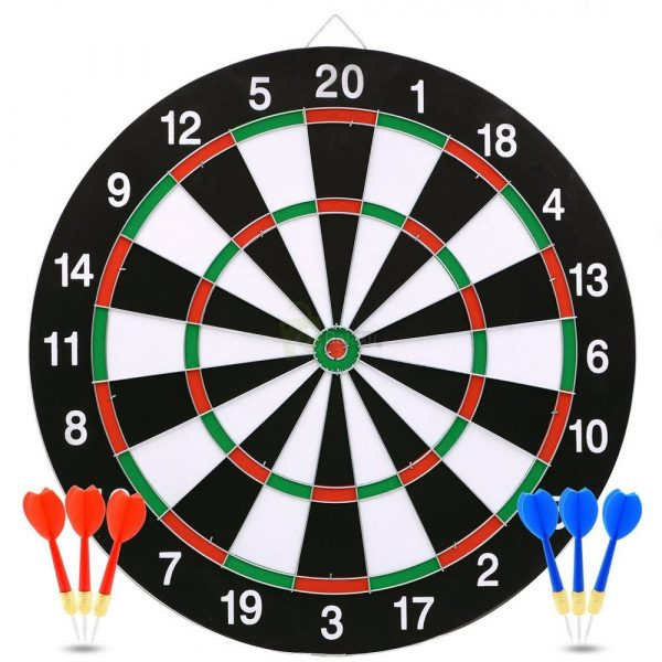 17 inches Dart Board Game Wooden Adult Game Main