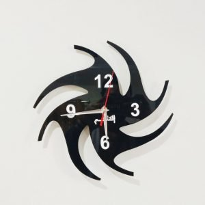 Acrylic clock black design 1
