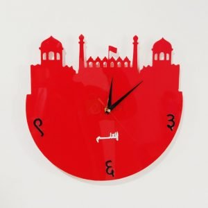 Acrylic clock black design 2 badshahi masjid