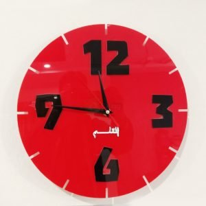 Acrylic clock black design 3 round