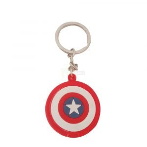 Captain America Movie Shield Marvel Keychain keyring rubber