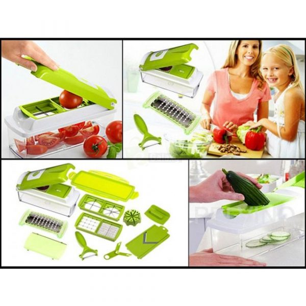 Nicer Dicer Plus 12 in 1 vegetables choped