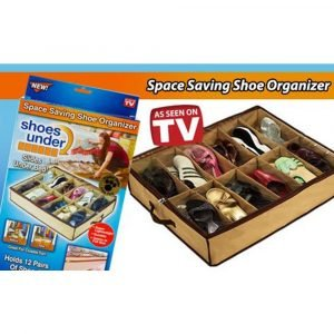 Shoe under space saving shoe box packing