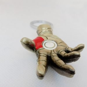 ironman hand fist keychain rubber