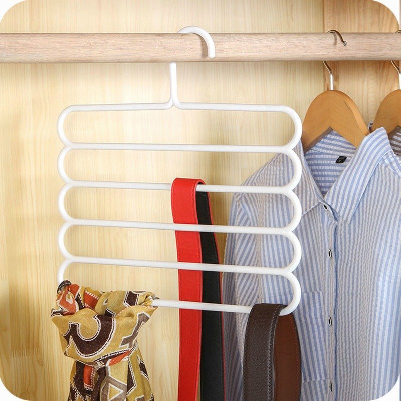 5 Layer Multi Colors Multi functional Clothes Hangers belts