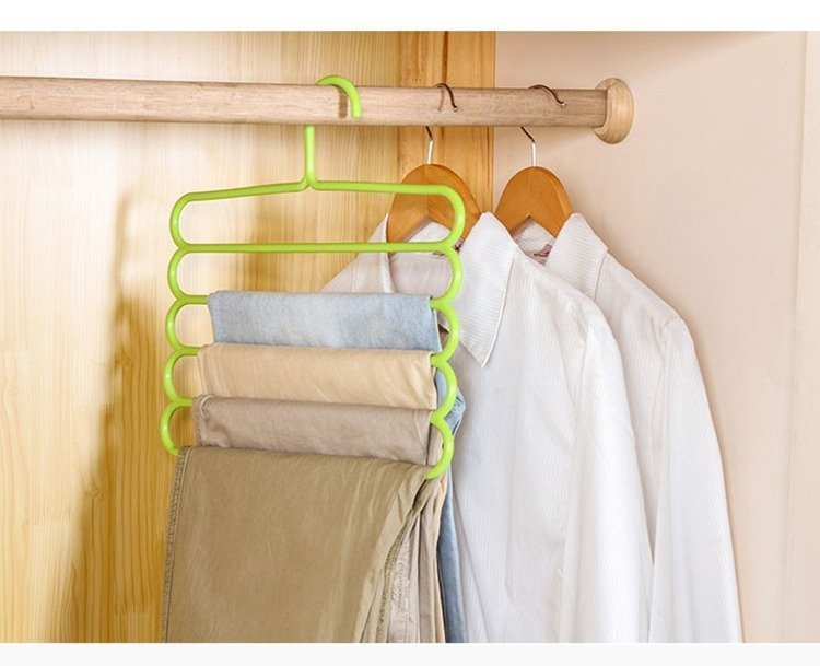 5 Layer Multi Colors Multi functional Clothes Hangers green