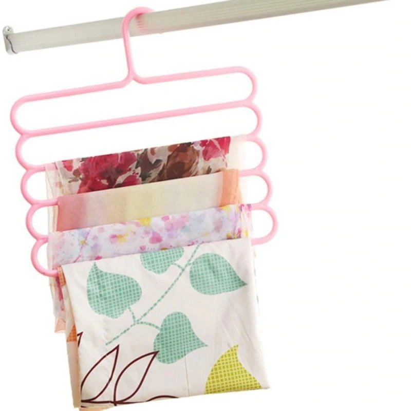 5 Layer Multi Colors Multi functional Clothes Hangers single