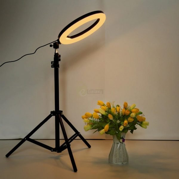 26cm Ring Light Studio Mobile Selfie Light with Stand 7 Feet Tripod 4