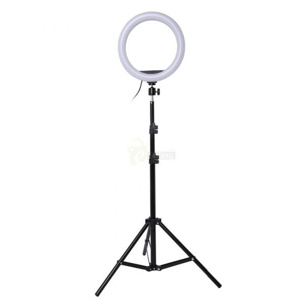 26cm Ring Light Studio Mobile Selfie Light with Stand 7 Feet Tripod 5