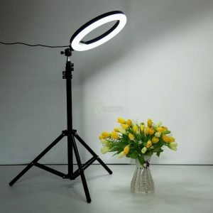 26cm Ring Light Studio Mobile Selfie Light with Stand 7 Feet Tripod white