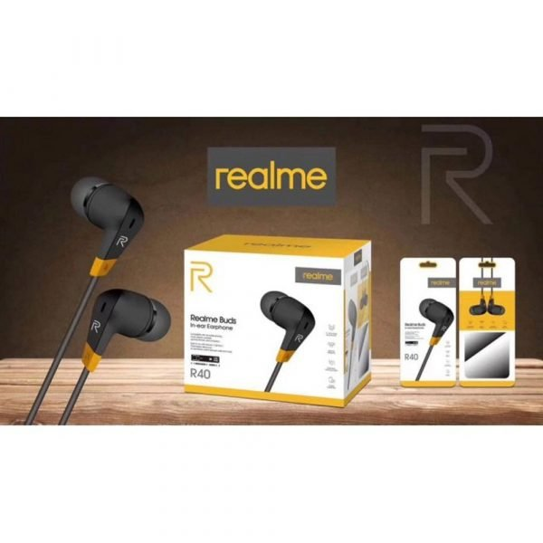 Realme R40 Wired Stereo Handsfree 3.5mm Headset packing