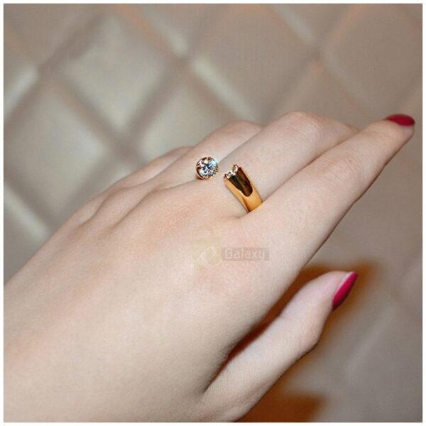 Umode ring daimond gold