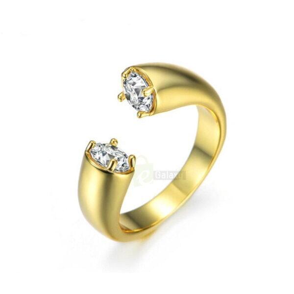 Umode ring daimond gold white