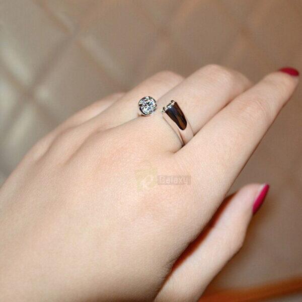 Umode ring daimond silver