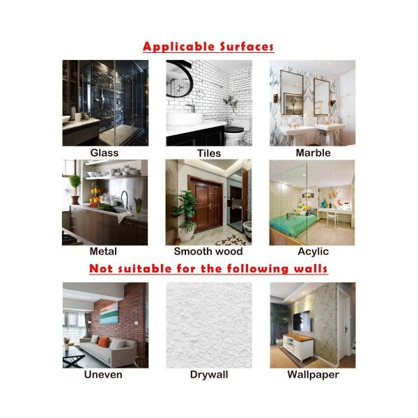 Wall Transparent Hook Waterproof Self Adhesive applicable surfaces