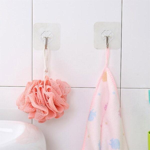 Wall Transparent Hook Waterproof Self Adhesive for Bathroom