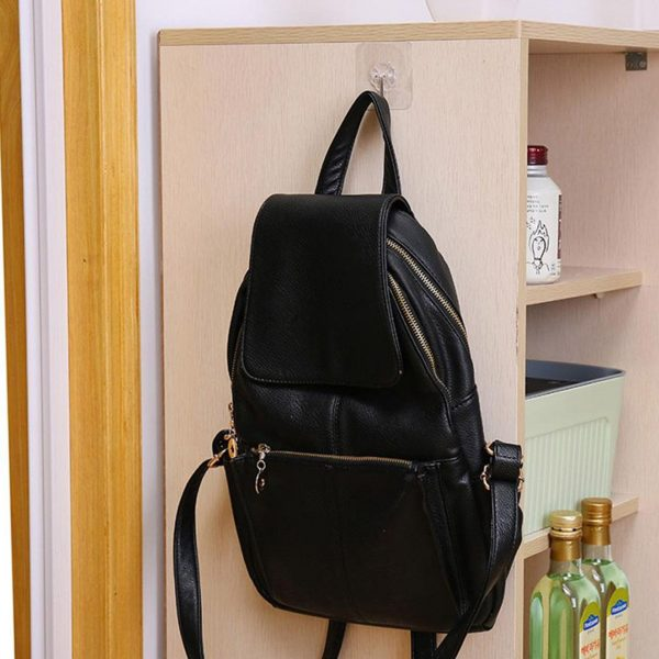 Wall Transparent Hook Waterproof Self Adhesive for Bathroom Kitchen bag