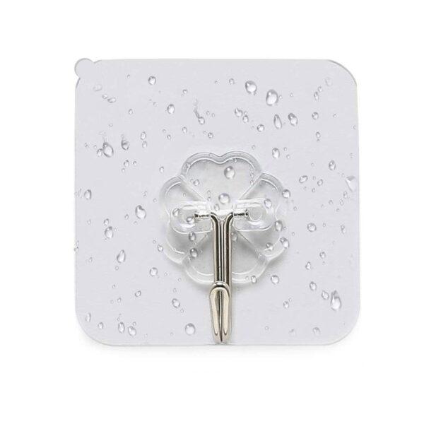 Wall Transparent Hook Waterproof Self Adhesive for Bathroom Kitchen main