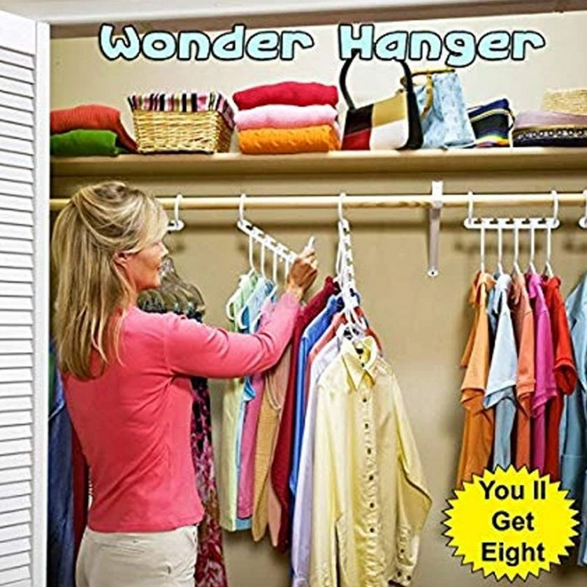 Wonder Hanger Closet Wardrobe Organizer Pack of 8