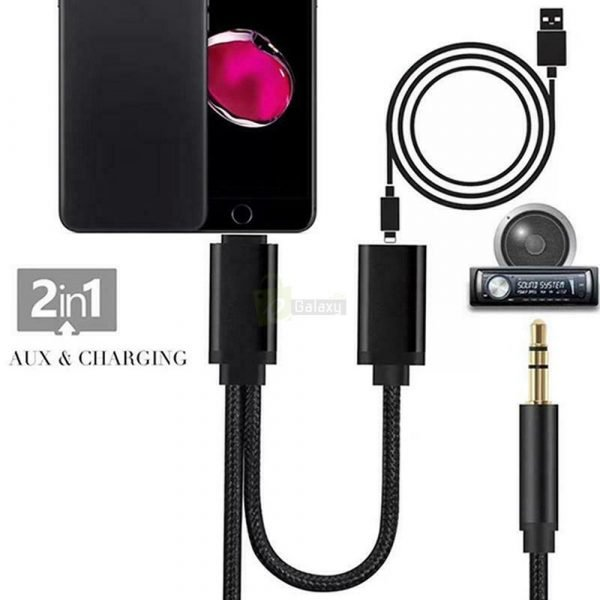 iP3.5mm Lightning Iphone X Charging Audio Aux Cable for ipad JS 038 main