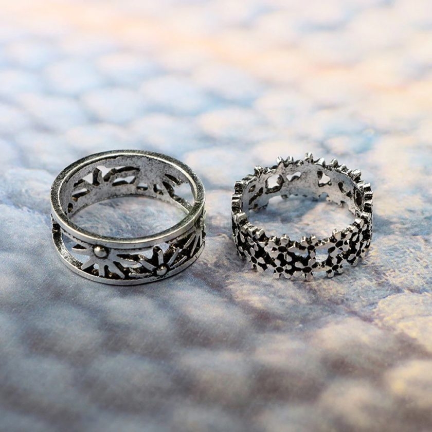 13pcs Set Antique Silver Rings for Women Jewelry JW03 4