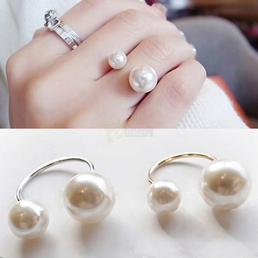 Pearl Ring Adjustable Ring Hot Fashion Women Jewelry JW07 featured
