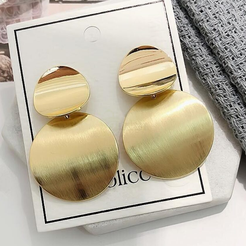 Round Earrings Dangle Drop Metal Fashion Jewelry 2020 JW05 3