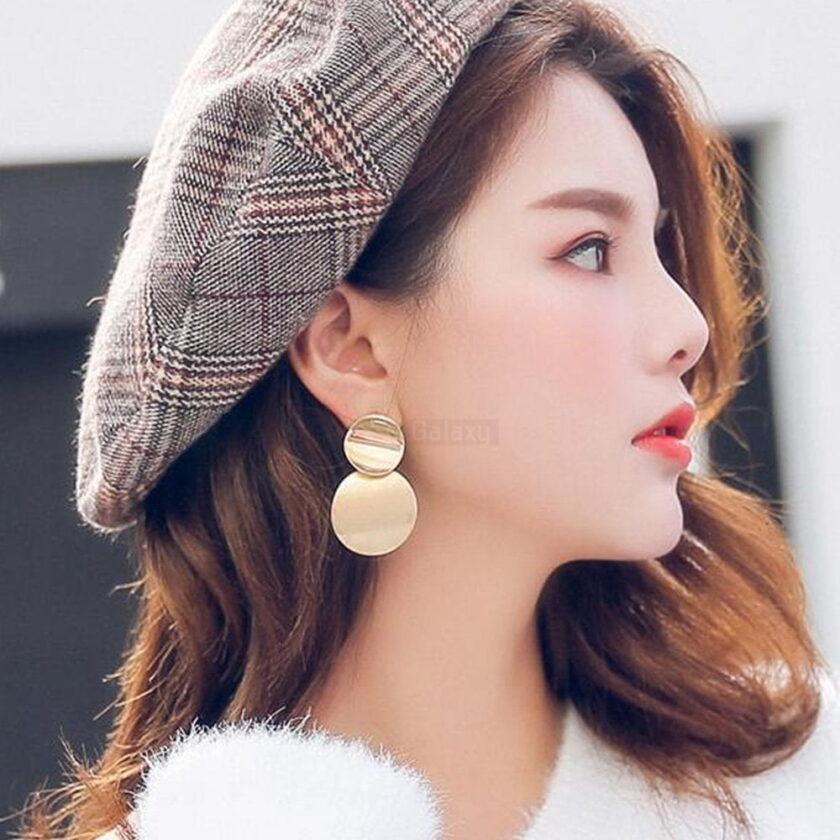 Round Earrings Dangle Drop Metal Fashion Jewelry 2020 JW05 4